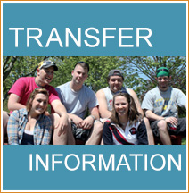 Transfer Information banner with group of students smiling